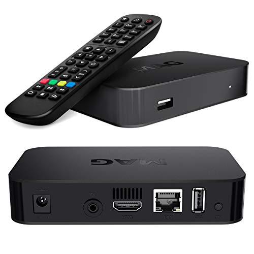 mag 420 IPTV Receptor Internet LAN 4K UHD 2160p Linux Set IP HEVC H.265 TV IP Box Streamer Multi Media Internet FULLHD