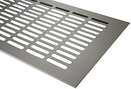 L/üftungsgitter Aluminium Stegblech L/üftung 150 mm x 800 mm in Verschiedenen Farben Braun eloxiert