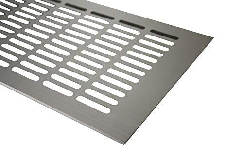 Aluminium Lüftungsgitter Stegblech Heizungsdeckel Edelstahl Optik 150mm x 600mm