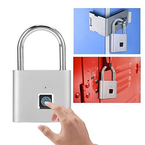 Fingerprint Padlock Smart Keyless Waterproof USB Charge Lock for Door Bike Suitcase Cabinet