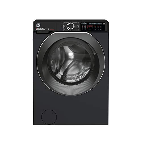 Hoover H-Wash 500 HD4149AMBCB Free Standing Washer Dryer, Large Capacity, 14 kg/9 kg, 1400 rpm, Black