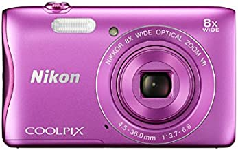 Nikon COOLPIX S3700 Digital Camera with 8x Optical Zoom and Built-In Wi-Fi (Pink)