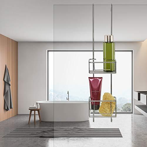 kowald Design Duschkorb zum Hängen Duschablage zum Hängen 68x15x12cm verchromt rostfrei