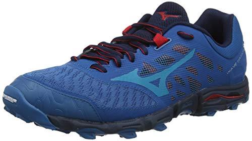 Mizuno Wave Hayate 5, Zapatillas de Trail Running Hombre, Bleu Rouge, 42.5 EU