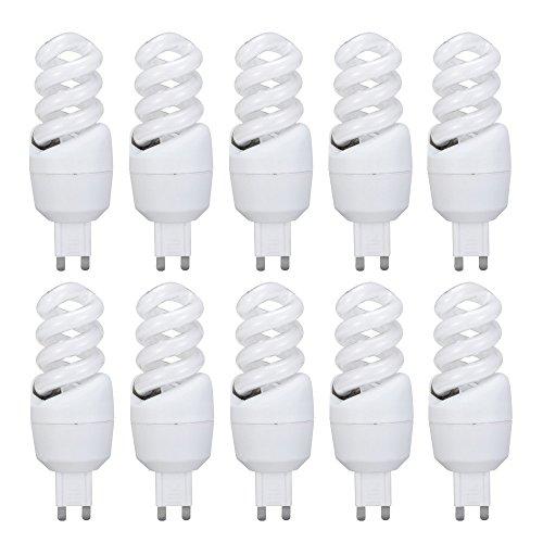 10 x Energiesparlampe Spiarlform 7W G9 Spirale 360lm warmweiß 2700K