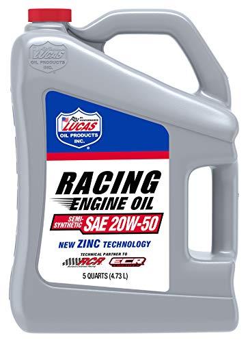 Lucas Oil 10378 SAE 20W-50 Semi-Synthetic Racing Motor Oil - 5 Quart