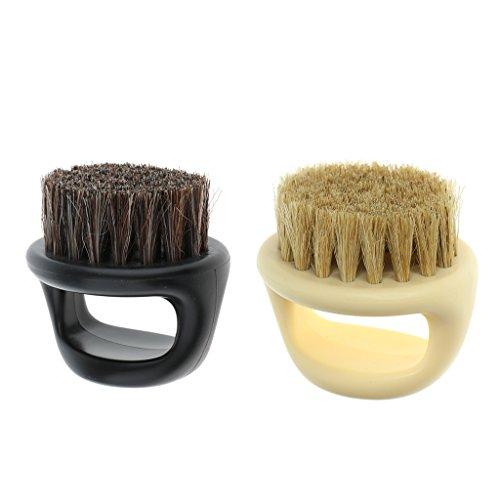 Bonarty Cepillo de Barba de 2 Piezas para Cuidado Facial, Acondicionamiento Y Distribución de Aceite, Perfecto para El Mantenimiento Del Regalo de Bigote para