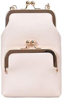Wultia - Women Shoulder Bag Lock Slant Crossbody Bags Mini Back Pack USB Kids Wallet Messenger Bag Small Travel Pouch #G8 White