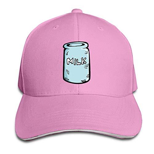 Buecoutes Milk House Cap Unisex Low Profile Cotton Hat Baseball Caps Pink