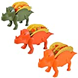 TacoDinos Taco Holders – Pack Of 3 Dinosaur Taco Stand – Taco Tuesday Kids Accessory – Dinosaur Tortilla Blanket – BPA-free Burrito Stand for Children – Fun & Cool Meal Holder