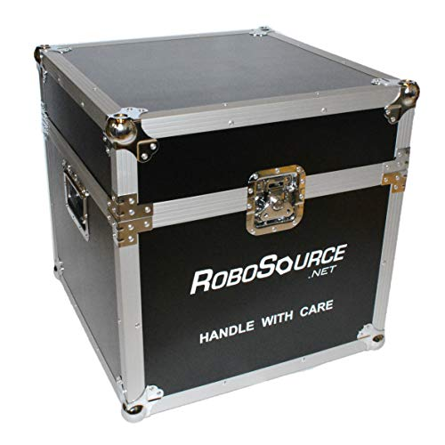 20' Cube Lightweight ATA Flight Case, Foam Lined, VEX Robot Case, 18 inch inside, 20x20x20 Outside Maximum Airline Dimensions. Durable Hard Sided Roadcase, Lockable, Stackable, Caster Wheels Available