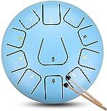 Tambor de lengua de acero, Drume Panda Drum 11 Notas 12 pulgadas Elegante tambor de la lengua de acero para niños Educación musical, instrumento de percusión del tambor de mano con bolsa, libro de mús