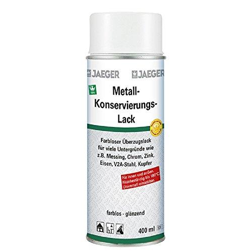 Jaeger Metall-Konservierungslack Schutzlack Spray 400 ml, farblos