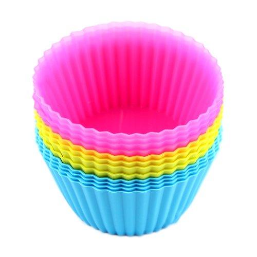 SANWOOD 12 pcs Silicone gâteau Cupcake Liner Moule de Football Moule