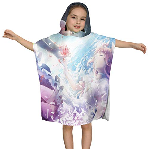 IUBBKI Puella Magi Madoka Magica Kinder-Badetuch mit Kapuze Premium-Qualität Soft Ultra Beach Wrap Poncho Cape Badeanzug Cover Up für Strandpool