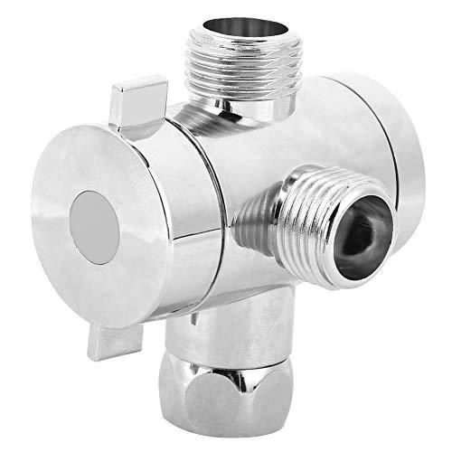 Niunion Desviador de Ducha, Multifunción G1/2 Válvula desviadora de Ducha de baño de 3 vías con Soporte para Cabezal de Ducha Accesorio de baño(Interface 1)