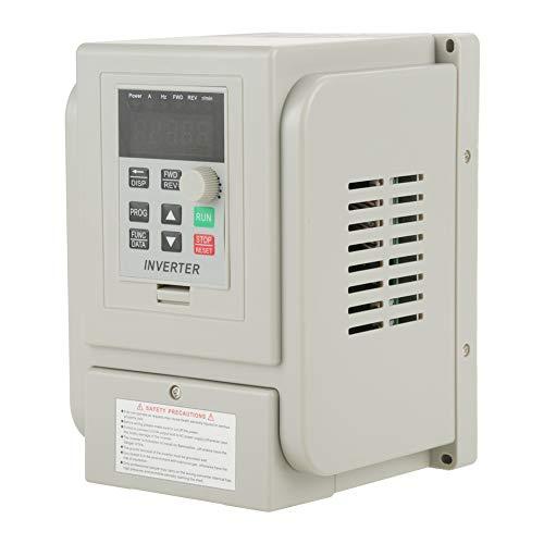 Samfox Convertitore di Frequenza Inverter VFD Monofase AC 220v 1.5kw Convertitore di velocità del Motore Mandrino Convertitore Monofase a Frequenza Variabile