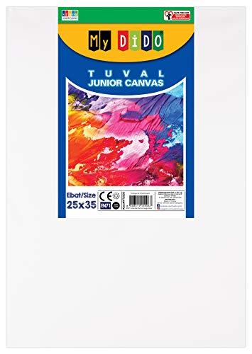 SÜDOR Keilrahmen Leinwand Set |Leinwände 25x35 cm Baumwolle Leinwände weiß grundiert (1)