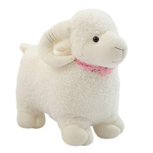 MINI Boutique - Muñeca de Peluche, diseño de Oveja de Peluche de Cabra, Juguetes y cumpleaños para niños o pequeños Amigos, Blanco, 25 cm