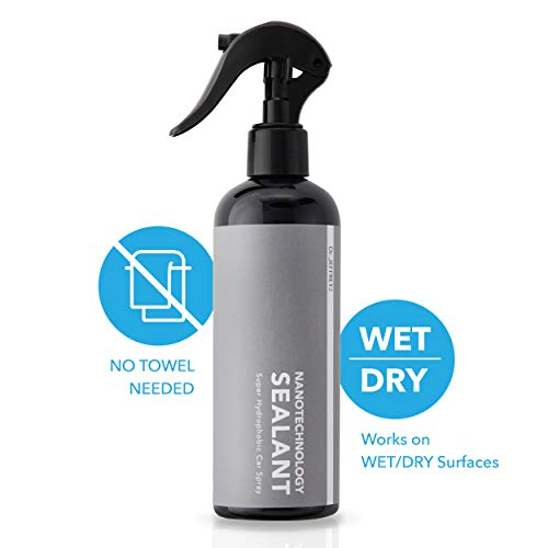 DR.Jeffrey'S Car Detailing Hydrophobic Spray   Nano Ceramic Coating   Fortify Quick Coat   Paint Sealant Shine Armor   Liquid Wax Polish   Windshield Rain Repellent   300ml 12oz