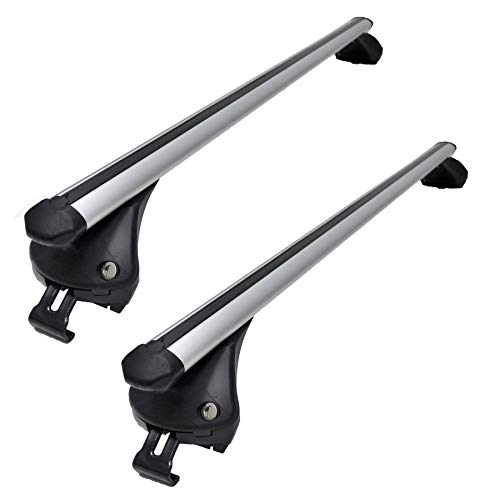 2015 Onwards Aluminium Locking Bars for Cars with Flush Solid Running Rails X253 MP Essential 1.35m Roof Bars to fit GLC