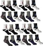 SUZO Men's Cotton Cushion Ankle Socks - Pack of 12 (Multicolour, Free Size)