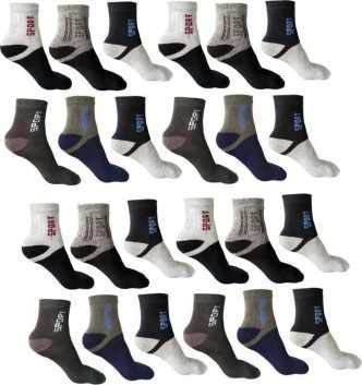 SUZO Organic Soft and Pure Cotton Ankle Length Socks Set of 12 Pair - Multicolour