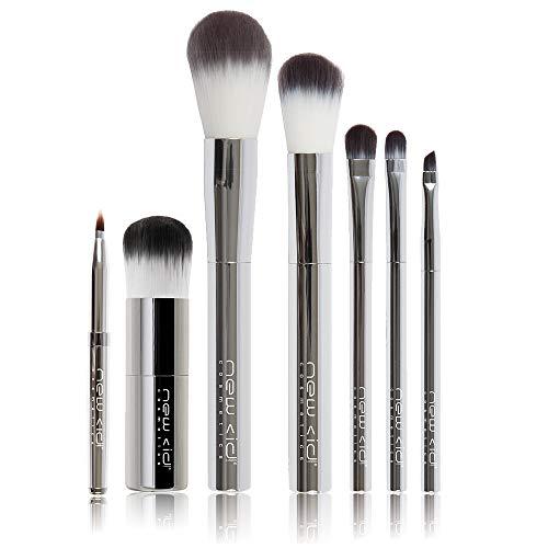 New CID Cosmetics Ensemble de pinceaux chromés.
