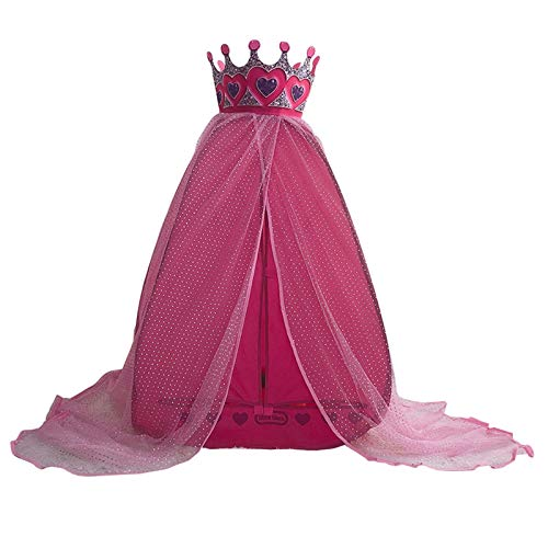 ZPHWH-E HWH Kindergarten Tent, Playroom Tent Princess' Tent House Grow Tent Indoor Tent for Kids Pink Castle Tent with Crown Game house ( Color : Pink , Size : 75*100CM )