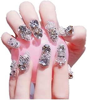 TBOP FAKE NAIL art reusable French long Artifical False nails 24 pcs set in Transparent color