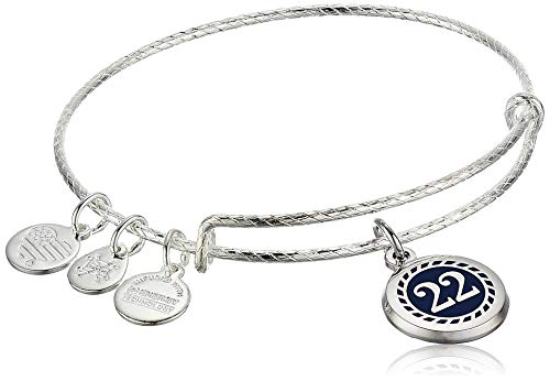 Alex and Ani Color Infusion Numerology Twenty Two EWB, SS, Shiny Silver, One Size (A20EBNUM12SS)