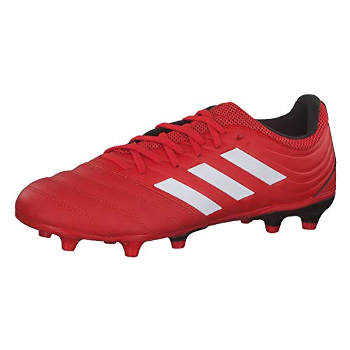 adidas Copa 20.3 FG, Zapatillas de fútbol Hombre, Active Red FTWR White Core Black, 43 1/3 EU