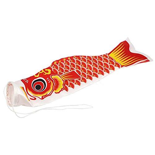Demarkt Japanisch Windsock Karpfen Flagge Windsack Koinobori Fisch Wind Streamer 70CM Rot