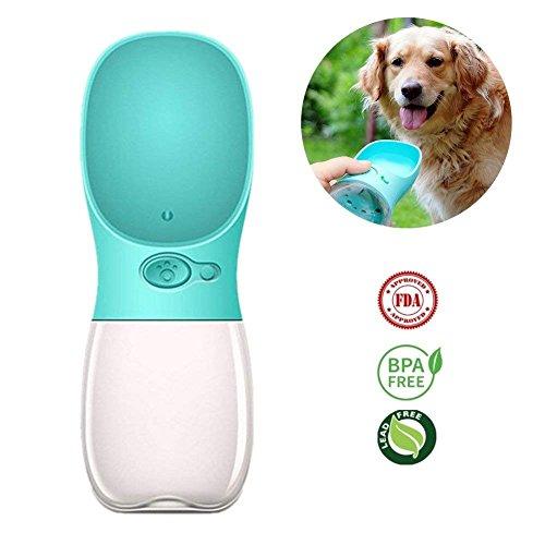 Lomire Botella de Agua para Mascotas al Aire Libre de Viaje,Botellas de Agua portátil para Perros al Aire Libre - Adecuado para al Aire Libre, Caminar, Viajar,350 ml / 120 oz