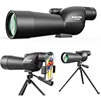 Suncore 15-45x60 Spotting Scope with Tripod and Phone Adapter (Black&Green)