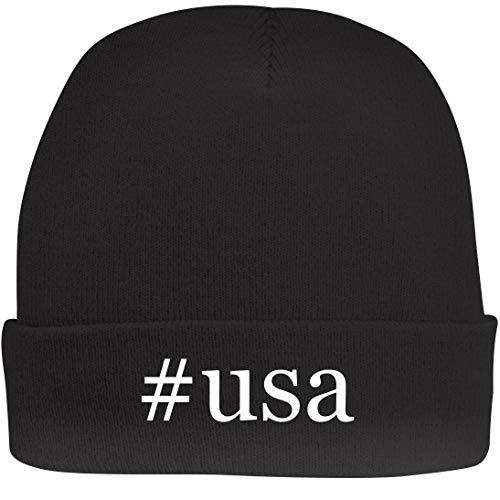 Shirt Me Up #USA - A Nice Hashtag Beanie Cap, Black, OSFA