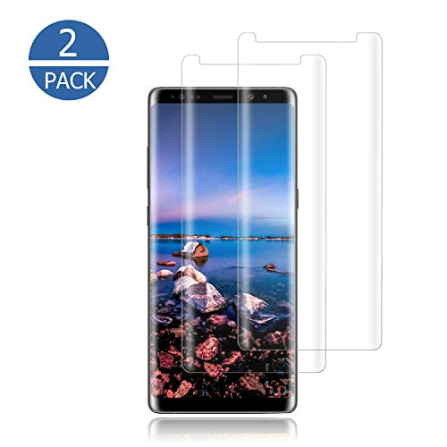 [2-Pack] Galaxy Note 8 Screen Protector,[9H Hardness] [Anti-Fingerprint] [Anti-Scratches] Tempered Glass Screen Protector Film Compatible with Samsung Galaxy Note 8.