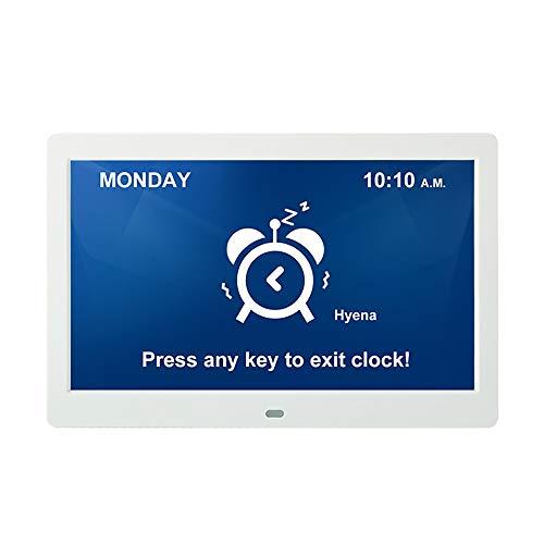 LCD exhibe Digital del Reloj de Pared de Tiempo del termómetro del Calendario de Escritorio de Alarma Metro de la Temperatura Interior Inicio Reloj electrónico Pared Digital Reloj Tercera Edad