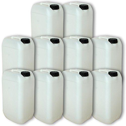 Wilai GmbH Lot de 10 bidons – Jerrican 15 L, HDPE Naturel, Ouverture DIN 61 qualité Alimentaire (10x22096)