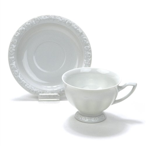 Maria White by Rosenthal, China Cup & Saucer, Classic Rose