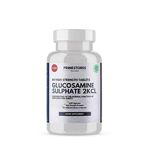 Glucosamine 2KCL 1500mg - 60 Vitamin Tablets - High Strength Halal Joint Care Supplement Pills by Primestores