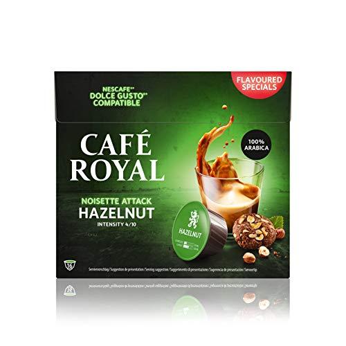 Café Royal Hazelnut 48 capsules Compatibles avec Nescafé (R)* Dolce Gusto (R)* - Lot de 3X16 - intensité 4/10 - certifié UTZ - flavoured special