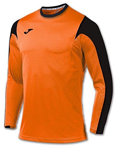 Joma Estadio Camiseta de Juego Manga Larga, Hombres, Multicolor (Naranja/Negro), 2XS