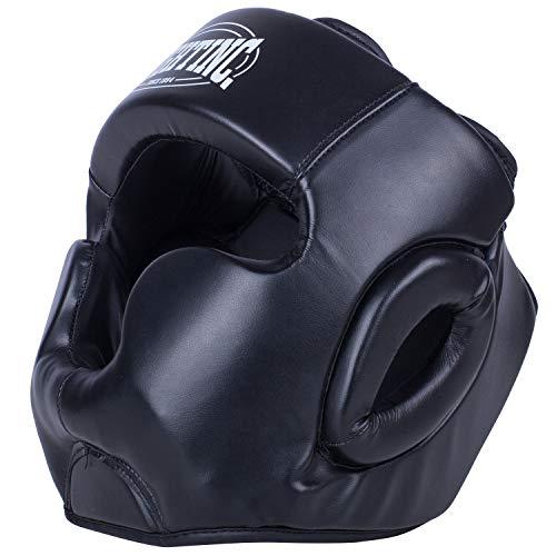 Fightinc. Kopfschutz Full Protection - für Boxen Kickboxen Muay Thai K1 Karate TKD MMA Kampfsport UVM. L/XL