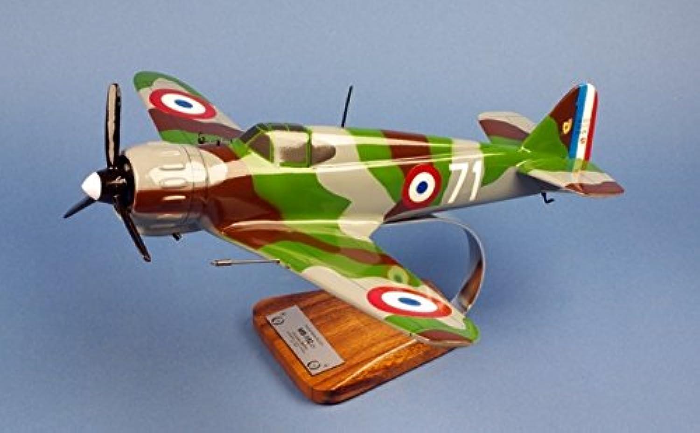 Aero-Passion Bloch MB.152.C1 Cpt L.Delfino 4esc GCII 9 - large mahogany model - aircrafts collection