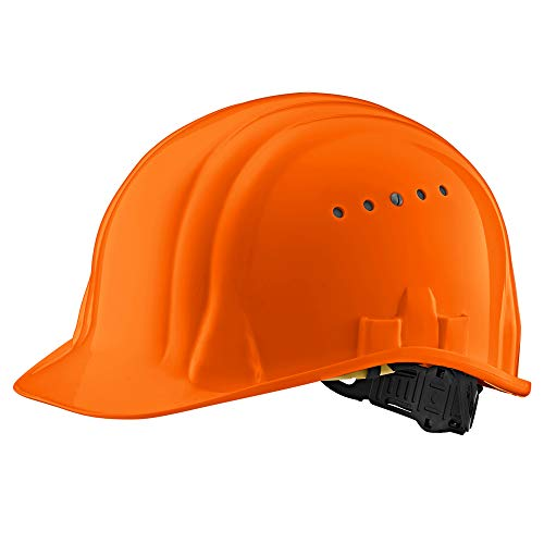 Casco Casco de Seguridad -EN para Casco de construcción Industrial Casco de Trabajo Casco de Trabajador de construcción Casco de Trabajo Casco de protección en DIV. Colores - EN 397 (Naranja) ✅