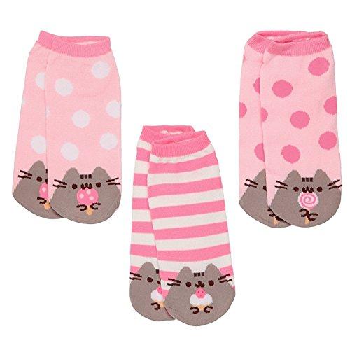 Pusheen The Cat Socken für Damen, Größe 39 bis 45, 3 Paar