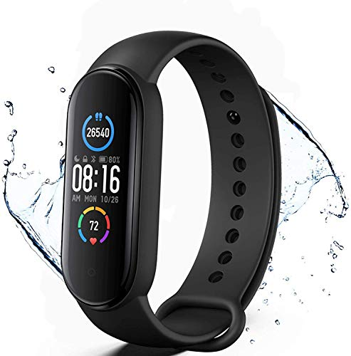 Smartwatch Fitness, Tracker con cardiofrequenzimetro Contacalorie Step Monitor del sonno IP67 Smartwatch impermeabile Contapassi di rilevamento delle attività per donne e uomini