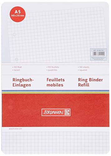 Brunnen 1066332 Ringbucheinlagen (A5, kariert, 100 Blatt, 70 g/m²)