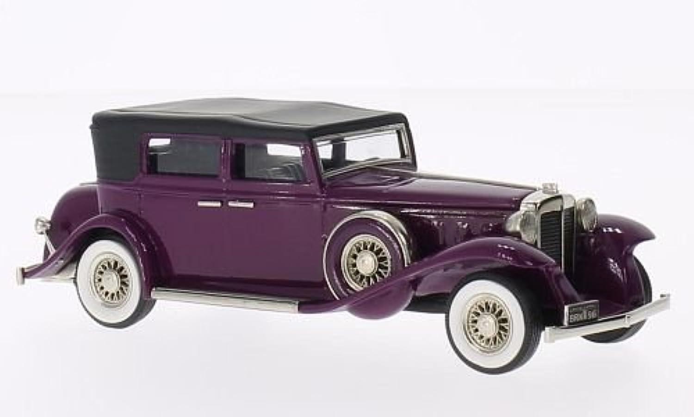 Marmon Sixteen 4-Door ConGrünible Sedan, lila, 1931, Modellauto, Fertigmodell, Brooklin 1 43